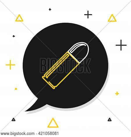 Line Bullet Icon Isolated On White Background. Colorful Outline Concept. Vector
