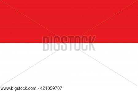 State Flag Of The Principality Of Monaco. Monaco Flag. State Symbol. National Holiday. European Coun