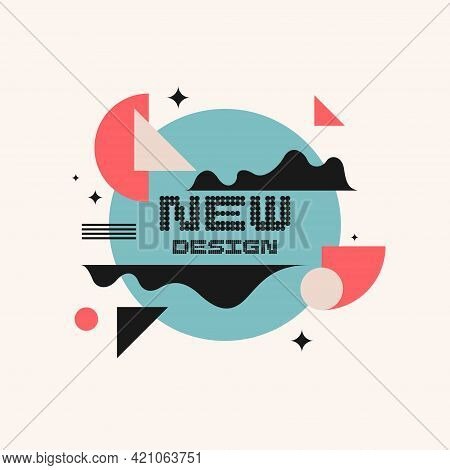 Abstract Background In A Modern Trendy Style. Poster With Simple Flat Organic Shapes, Geometric Shap