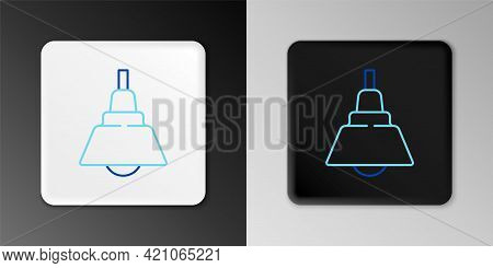 Line Chandelier Icon Isolated On Grey Background. Colorful Outline Concept. Vector