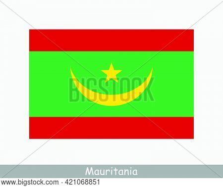 National Flag Of Mauritania. Mauritanian Country Flag. Islamic Republic Of Mauritania Detailed Banne