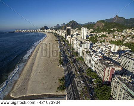 Rio De Janeiro, Copacabana Beach, Brazil. Rio De Janeiro City.