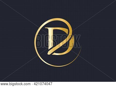 Creative D Letter With Luxury Concept. Modern D Logo Design For Business And Company Identity