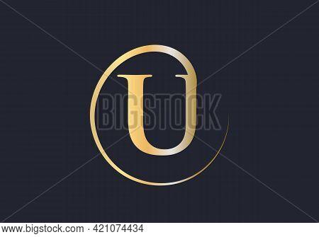 Initial Gold Letter U Logo Design. U Logo Design With Luxury Concept