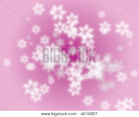 Snowflake abstract pattern for backgrounds and fills poster