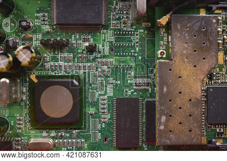 Surface Mount Components, Called Smd. These Components Are Placed Onto A Printed Circuit Board