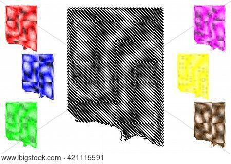 Clay County, State Of South Dakota (u.s. County, United States Of America, Usa, U.s., Us) Map Vector