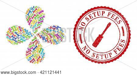 Spanner Colored Rotation Flower Cluster, And Red Round No Setup Fees Textured Rubber Print. Spanner