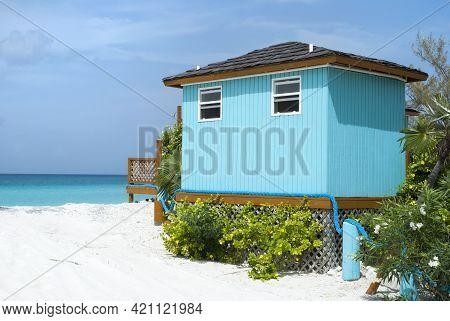 The Entrance To The Tourist Beach On Half Moon Cay Island (bahamas).