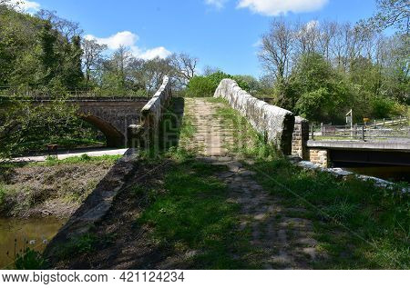 Foot Path Over Beggar's Bridge In Glaisdale, England.