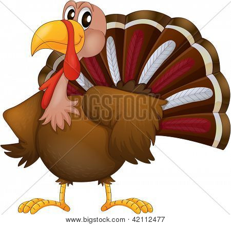 Illustration of an angry turkey on a white background