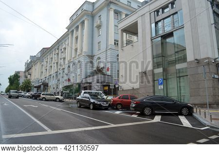 Downtown in Kiev. Exterior.Streets,buildings,detales. May 19,2021. Kiev , Ukraine