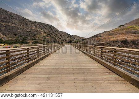 Pier at Scorpion Anchorage on Santa Cruz Island in the Channel Islands National Park near Ventura, California.
