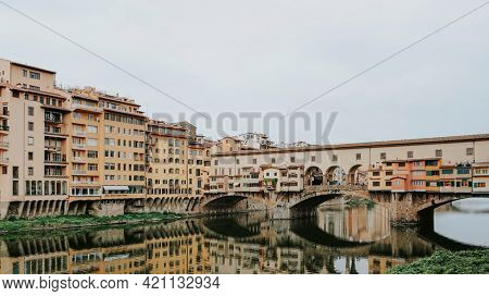 Ponte Vecchio over the Arno river in Italy