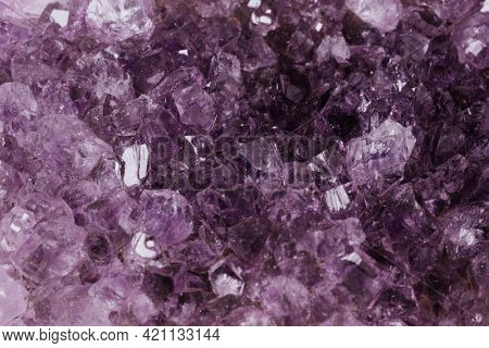Amethyst crystal macro ornament photography