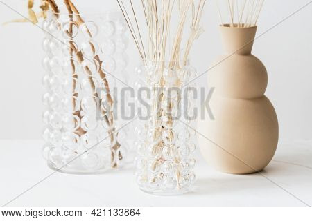 Dried Bunny Tail grass in vases