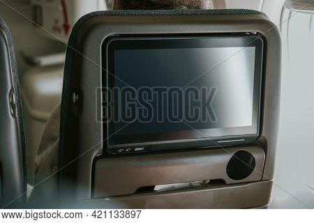 Airline in-flight passaenger entertainment screen