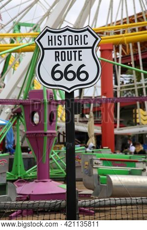 Historic Route 666. Satan's Highway Sign. Highway 666. The Road to HELL! No Stop Signs, No Speed Limit. Nothings going to slow me down. Highway to Hell.