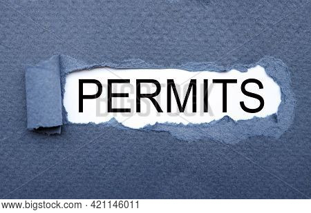 Permits. Torn Paper Paper Background. Abstract Background. Stock Image.