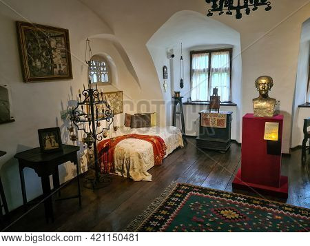Bran, Romania - May 16, 2021: Details With The Interior Of The Bran Castle, Known Also As Dracula's