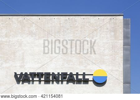 Kolding, Denmark - August 16, 2020: Vattenfall Is A Swedish Power Company, Wholly Owned By The Swedi