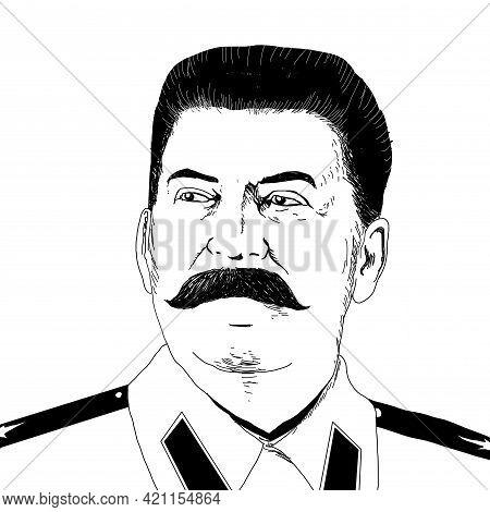 Realistic Illustration Of Soviet Leader Iosif Stalin