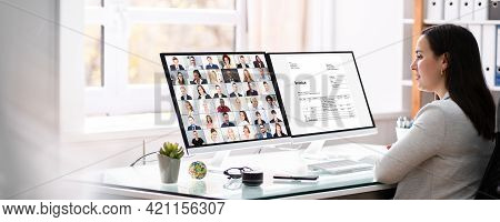 Virtual Video Conferencing Tax Webinar On Computer Screen