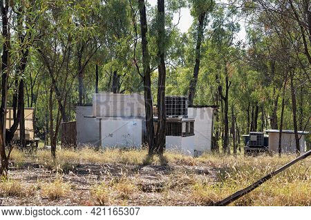 Basic Accommodation In The Bush On The Gem Prospecting Leases In Outback Australia