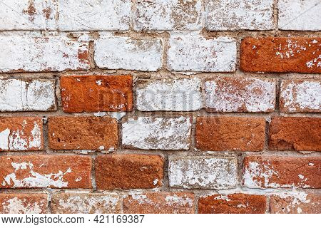 Old Brickwork Close Up. Use As Texture