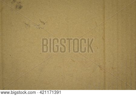 Brown And Beige Colored Cardboard Detail, Cardboard Paper Texture As Background