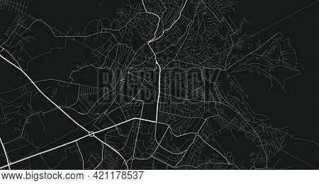 Urban City Map Of Pristina. Vector Illustration, Pristina Map Grayscale Art Poster. Street Map Image