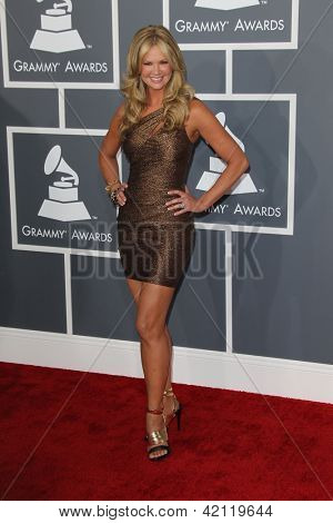 LOS ANGELES - FEB 10:  Nancy O'Dell arrives at the 55th Annual Grammy Awards at the Staples Center on February 10, 2013 in Los Angeles, CA