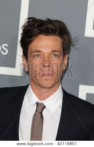 LOS ANGELES - FEB 10:  Nate Ruess arrives at the 55th Annual Grammy Awards at the Staples Center on February 10, 2013 in Los Angeles, CA