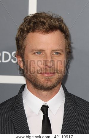 LOS ANGELES - FEB 10:  Dierks Bentley arrives at the 55th Annual Grammy Awards at the Staples Center on February 10, 2013 in Los Angeles, CA