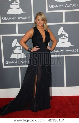 LOS ANGELES - FEB 10:  Miranda Lambert arrives at the 55th Annual Grammy Awards at the Staples Center on February 10, 2013 in Los Angeles, CA