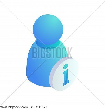 Personal Information Isometric Icon. User Info Icon. 3d Account Details Symbol. Person Data Info