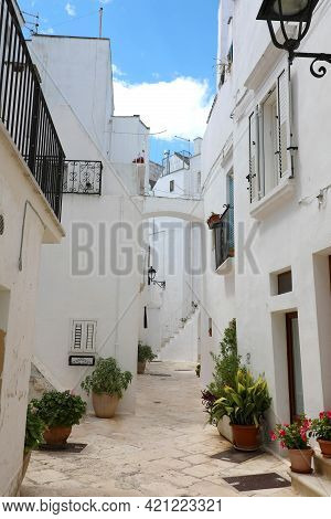 Glimpse Of An Italian Town In Apulia Region, Southern Europe