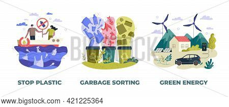 Save Earth Planet Ecological Concept Vector Illustration. Environment Conservation Management. Stop
