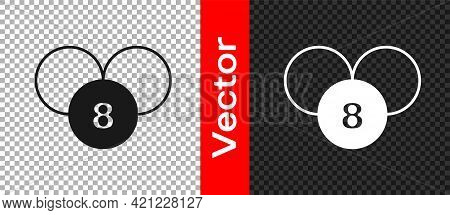 Black Bingo Or Lottery Ball On Bingo Card With Lucky Numbers Icon Isolated On Transparent Background