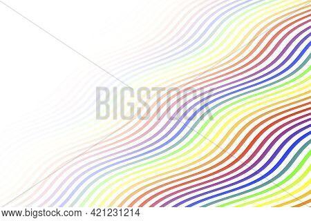 Diagonal Slant Wave Stripes Pride Flag Lgbtq Holiday Rainbow Colors  Pattern Flag Illustration Backg
