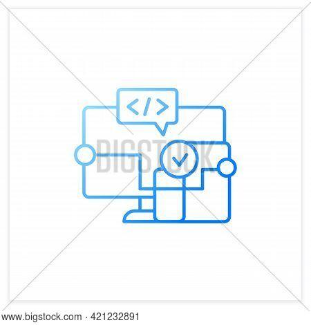 Cross Platform Software Gradient Icon. Implemented On Multiple Computing Platforms. Programming Envi