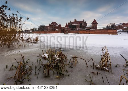 Malbork Castle. Largest Castle In Europe Also Known As The Castle Of The Teutonic Order In Malbork I