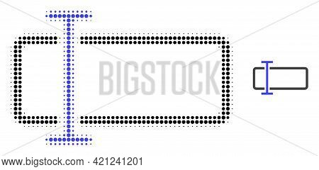 Text Field Halftone Dotted Icon Illustration. Halftone Pattern Contains Circle Dots. Vector Illustra
