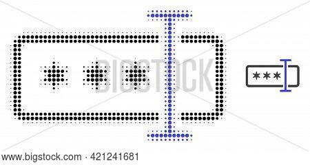 Password Field Halftone Dot Icon Illustration. Halftone Array Contains Circle Elements. Vector Illus
