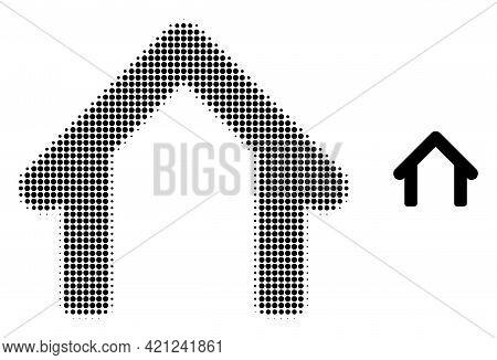 Garage Halftone Dot Icon Illustration. Halftone Array Contains Round Dots. Vector Illustration Of Ga