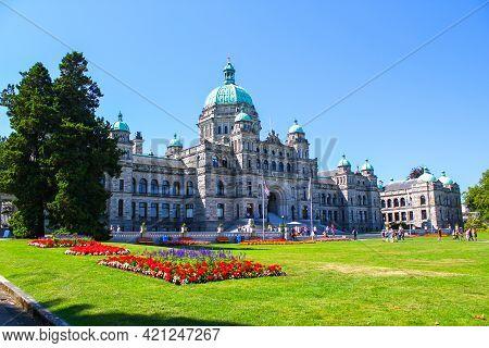 Legislative Assembly Of British Columbia: Parliament Building In Victoria, Canada