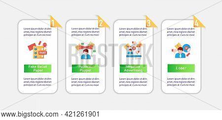 Election Vector Infographics.fake Ballot Paper, Negative Ad, Loser Template Design Elements.presenta