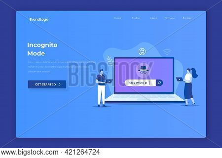 Incognito Browsing Illustration Concept. Illustrations For Websites, Landing Pages, Mobile Apps, Pos