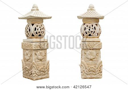 Sculpture stone of lantern