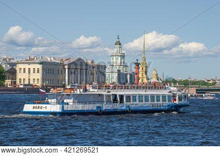 Saint Petersburg - June 23, 2019: Pleasure Motor Ship